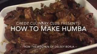 Humba De Cebu Recipe  Chedz Culinary Club