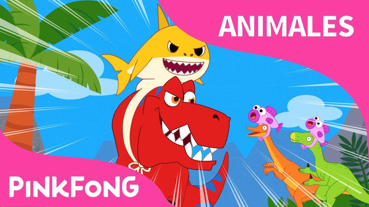 Tiburon Bebe Rex Animales Dinosaurios Pinkfong Canciones