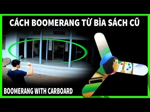Cách làm boomerang từ bìa sách cũ đơn giản   how to make boomerang with cardboard   PHUC ORIGAMI