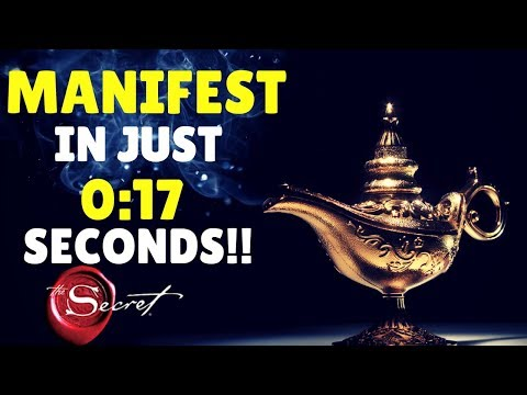 How To Attract ANYTHING You Want in 17 SECONDS | Law of Attraction (WARNING!! INSTANT RESULTS!)