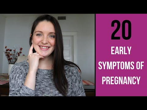 EARLY PREGNANCY SYMPTOMS / 20 EARLY SIGNS OF PREGNANCY