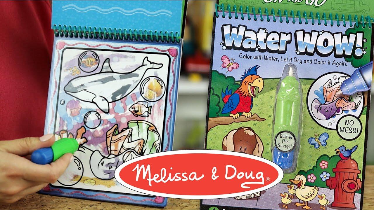 Water Wow Magiczne Kolorowanki Wodne Melissa Doug Youtube