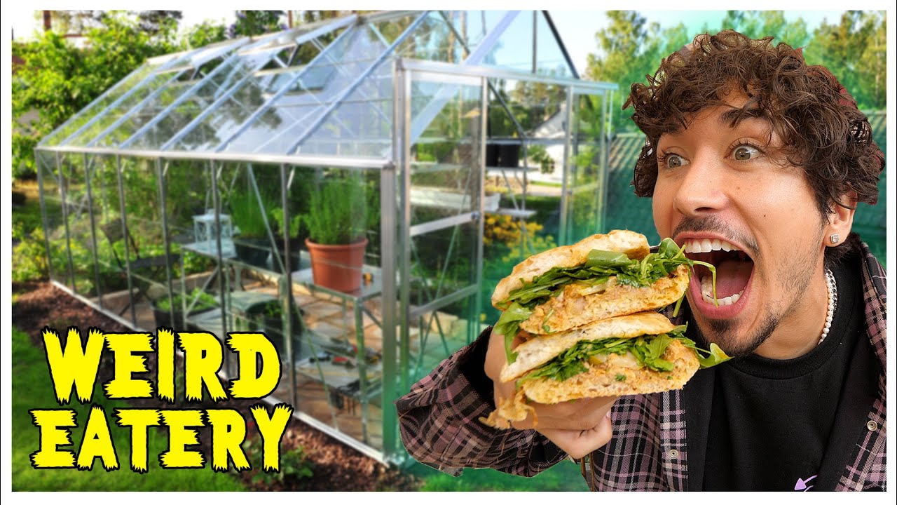 Eating At The Weirdest Restaurant in LA (Eating in a GREENHOUSE!)