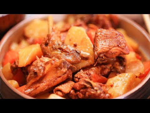 How to cook chinese food-土豆胡蘿蔔炖雞Chicken Stew with Potato and Carrot
