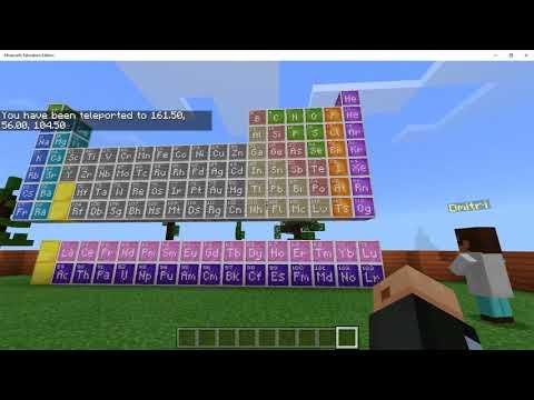 สาธิต Minecraft Education Edition | World of Chemistry