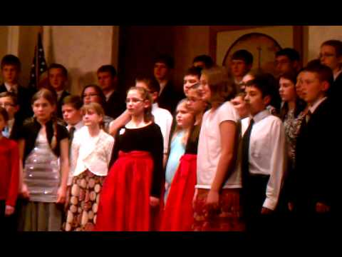 Utica Christian School 4-12 grades singing