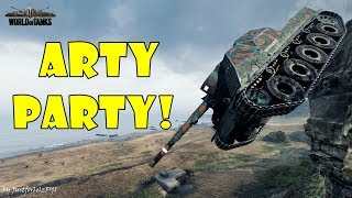 World of Tanks - Funny Moments   ARTY PARTY! #51