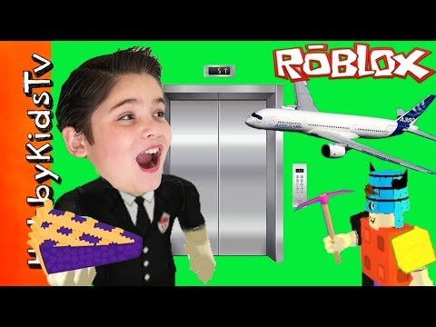 Roblox Minecraft Pies! Survive Planes and Elevators with HobbyPig and HobbyKidsTV