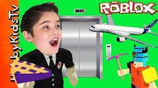 Roblox Minecraft Pies Planes and Elevators with HobbyPig and HobbyKidsTV