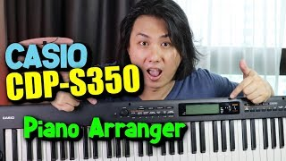 CASIO CDP-S350 Arranger Piano Keyboard Review & Demo, Tones & Rhythms