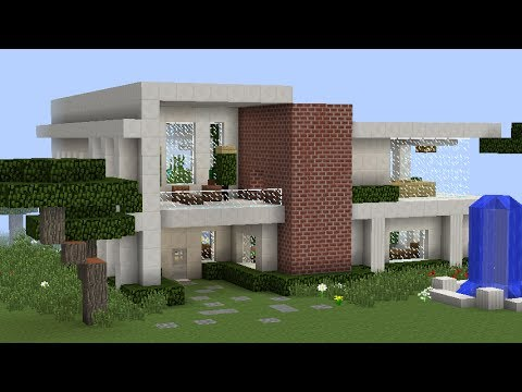 Full download tutorial de como hacer una casa bonita y moderna en minecraft lespecial 100 subs for Casas modernas para construir