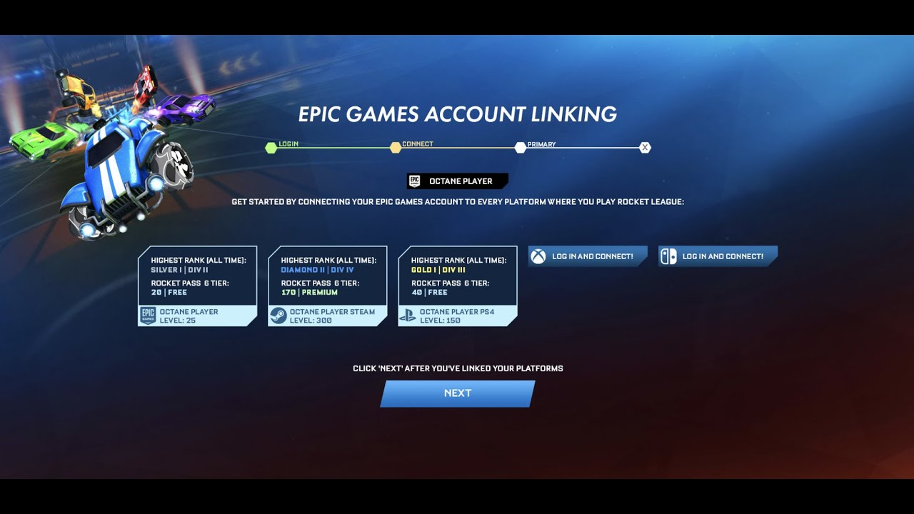 How to link Rocket League Steam/PSN/XBOX account with Epic ...