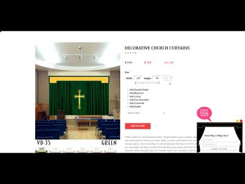 Church Curtains, Stage Backdrops, Theater Drapery