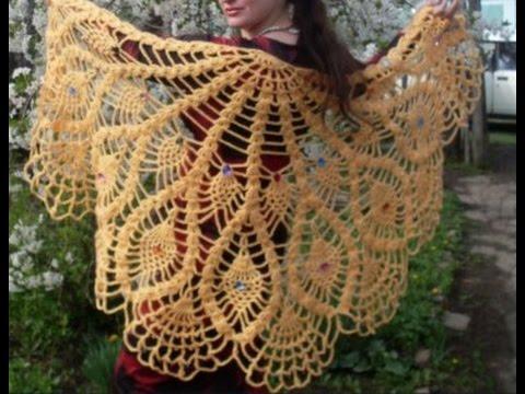 вязание шалей крючком для начинающих 2019 Shawls Knitting