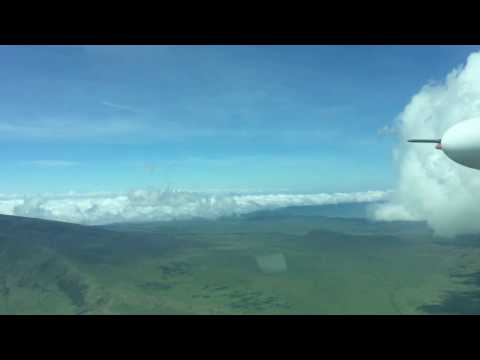 Flying over the Ngorongoro Highlands with Coastal Aviation