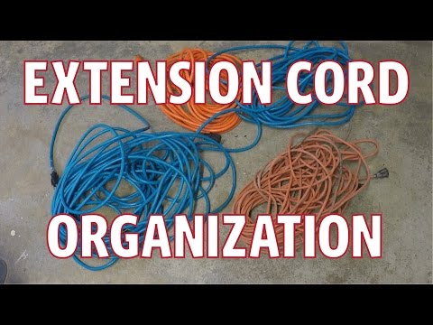 Extension Cord Organizing and Storage