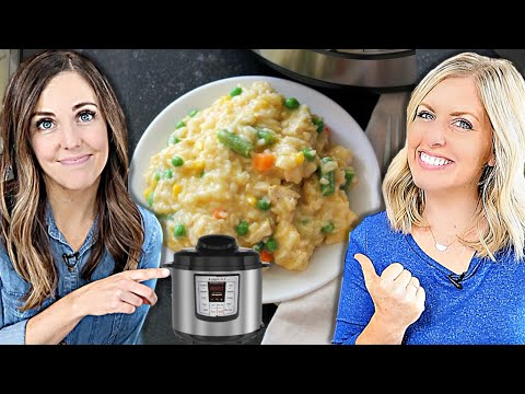 FAST Instant Pot Cheesy Chicken and Rice – Dump and Go Recipe!