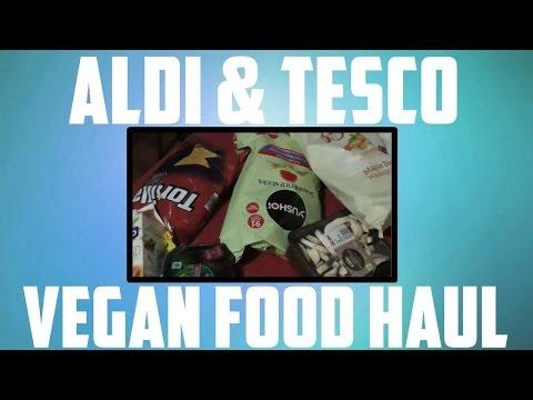 TESCO AND ALDI VEGAN FOOD HAUL U.K