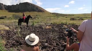 Making of sesión de fotos y video - Miss Rapa Nui 2014