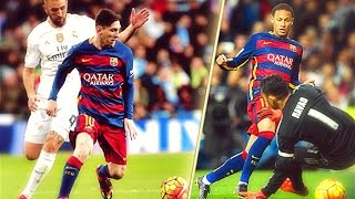 Neymar Jr and Lionel Messi Destroying Real Madrid HD