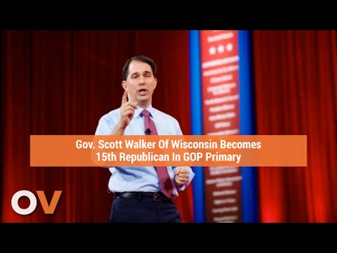 Gov. Scott Walker Of Wisconsin Becomes 15th Republican In GOP Primary