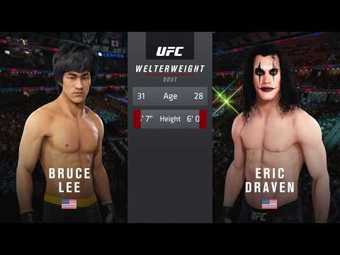 EA UFC 3 Bruce Lee VS Brandon Lee (The Crow) Online Fight