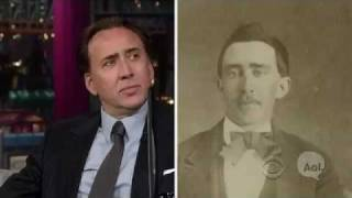 Nic Cage responds to vampire rumors on Letterman