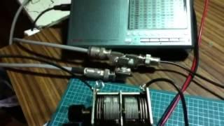 dbmに100mhzを入れて 航空無線を聴く era-3 mini circuitでrfアンプ 2連...