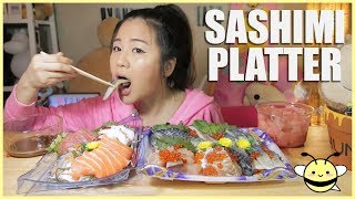 ASMR SASHIMI PLATTER | Eating Sounds