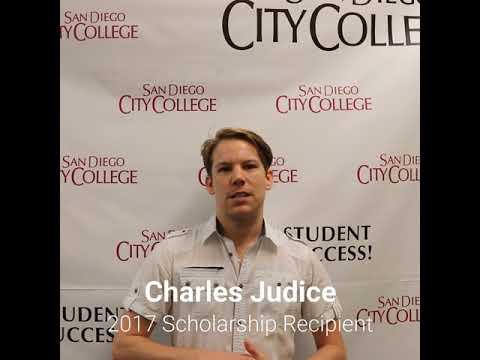 Friends of Downtown San Diego Scholarship recipient, Charles Judice, San Diego City College student