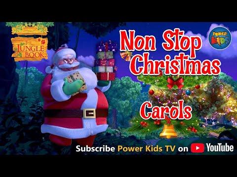 Jungle Book Singing Christmas Songs | Non Stop Popular Christmas Carols | Jungle Book | Power Kids