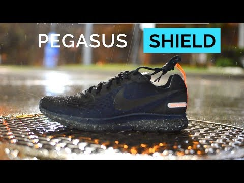 NIKE PEGASUS 34 SHIELD REVIEW (Water Resistant Running Shoe) - YouTube