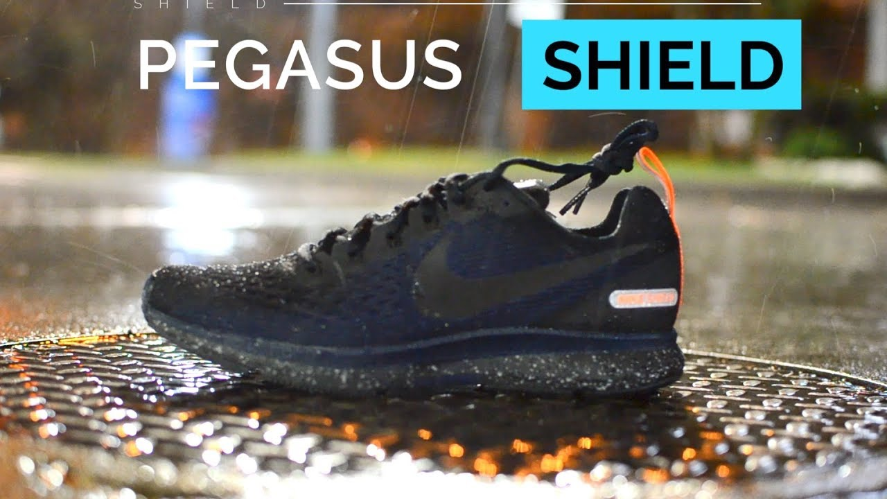 fe227747757 NIKE PEGASUS 34 SHIELD REVIEW (Water Resistant Running Shoe) - YouTube