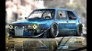 VW GOLF Old school Big Turbo Sounds!