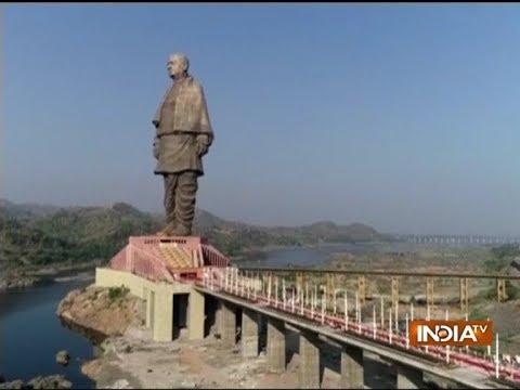 Final rehearsal underway near Sardar Vallabhbhai Patel's Statue Of Unity in Gujarat