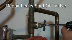 Repair Leaky Shut-Off Valve Howto DIY Fix It - Please Read Safety Tips & **New Info** in Description
