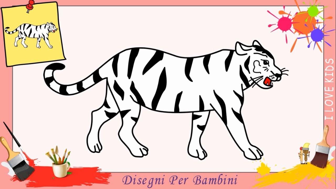 come disegnare una tigre facile passo per passo per