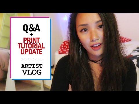 Q&A + print tutorial update // ARTIST VLOG 5