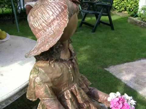 hacer figura escultura con tecnica paverpol para el jardin