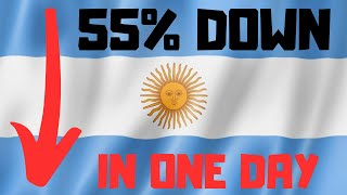 Argentina Stock Market Crash - Second Largest DAILY CRASH IN HISTORY!!!!