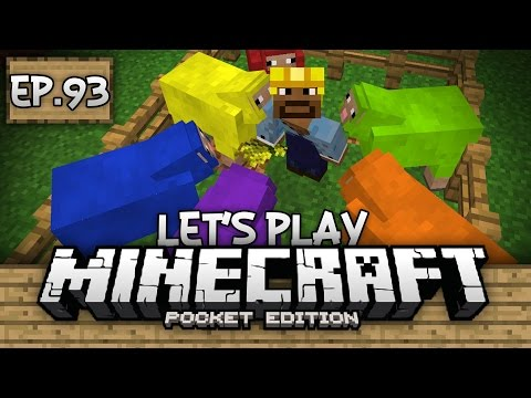 Survival Let's Play Ep. 93 - COLORED SHEEP FARM EMPIRE!!! - Minecraft PE (Pocket Edition)