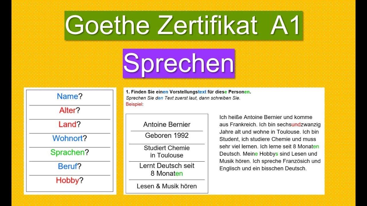 Goethe a1 prüfung