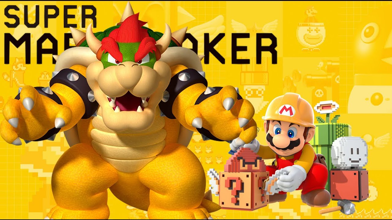 mega bowsers castle walkthrough super mario maker youtube