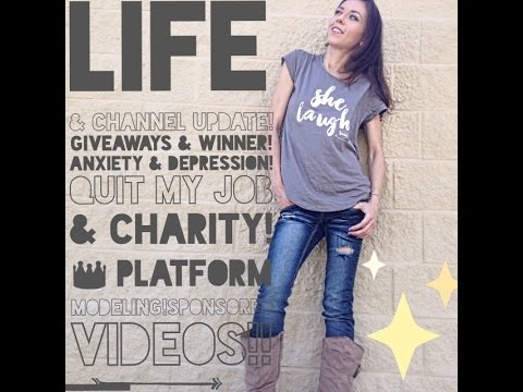 Life Update: Giveaways/Winner, Anxiety, Quit my job, Platform Modeling, Sponsored Videos, and MORE!!