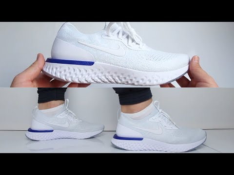 2767561d584b7 Nike Epic React Flyknit   Triple White