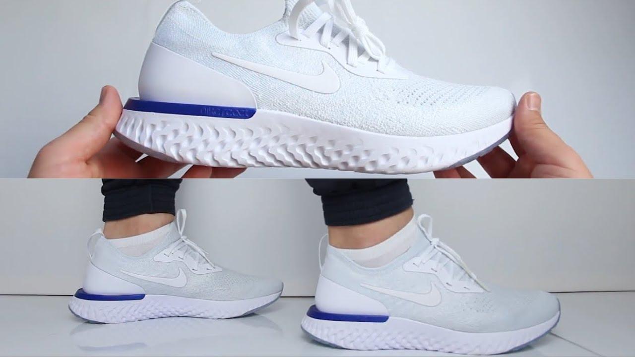 e4fc1e9c0ac3d Nike Epic React Flyknit   Triple White
