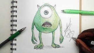 SKETCH SUNDAY #29 How To Draw Mike Wazowski - Monsters Inc - DeMoose Art