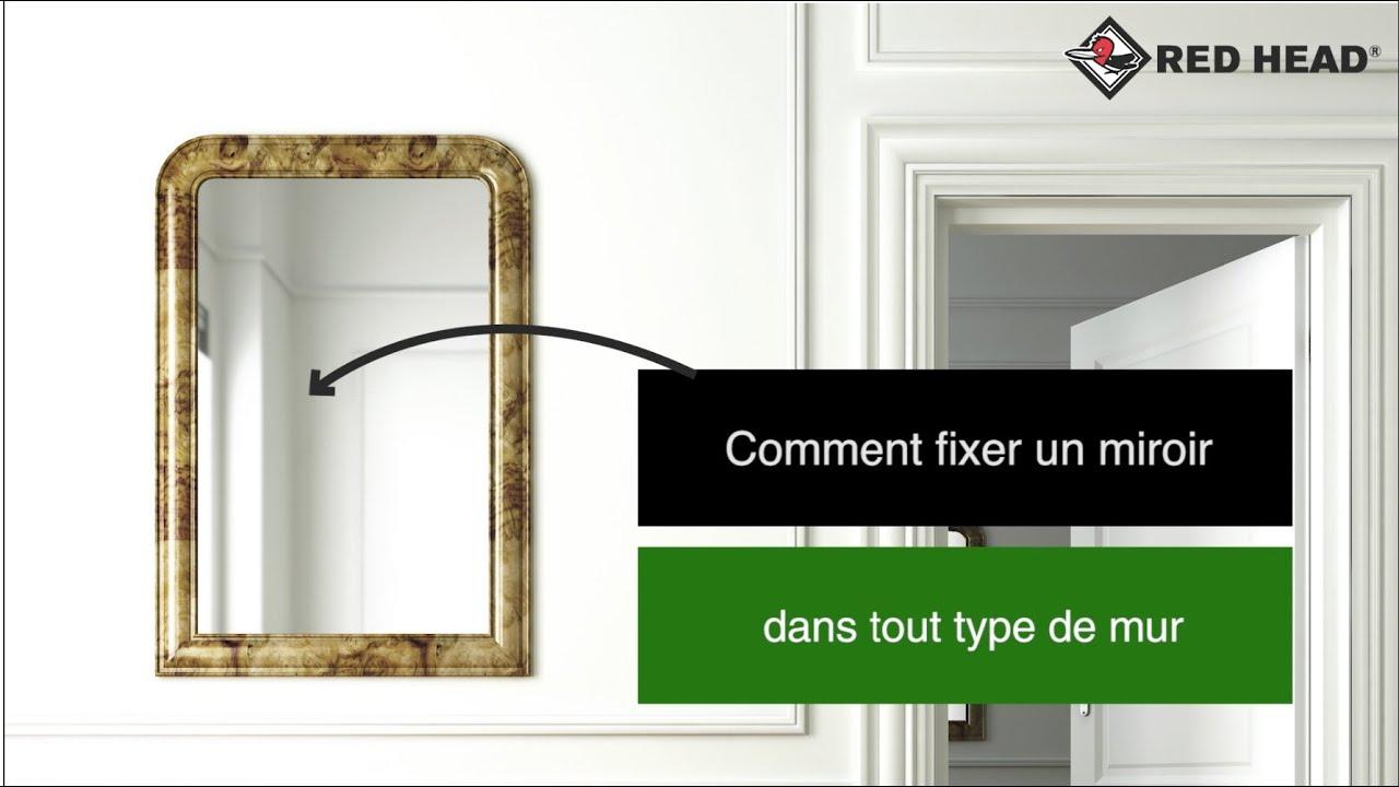 atelier red head n 102 fixer un miroir dans tout type de mur youtube. Black Bedroom Furniture Sets. Home Design Ideas
