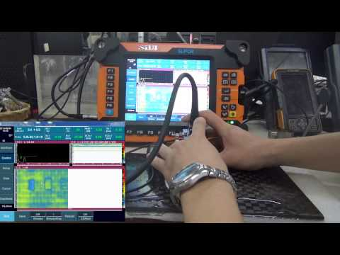 Phased Array Flaw Detector SUPOR inspects aircraft composite material