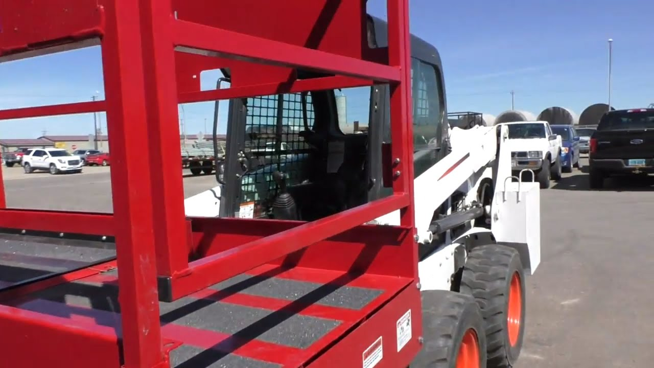 Turning on Auxiliary Hydraulics on a Bobcat S510 to use with a Skid-Lift